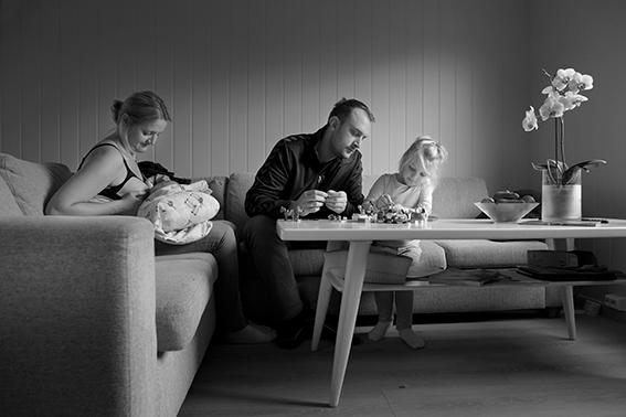 Hverdagsliv i en norsk familie.