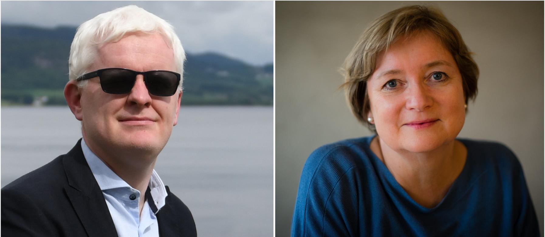 Styreleiar i Norsk Redaktørforening, Hanna Relling Berg og nestleiar i Norsk Journalistlag, Dag Idar Tryggestad