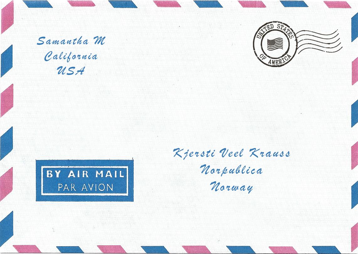 Luftpost frå USA