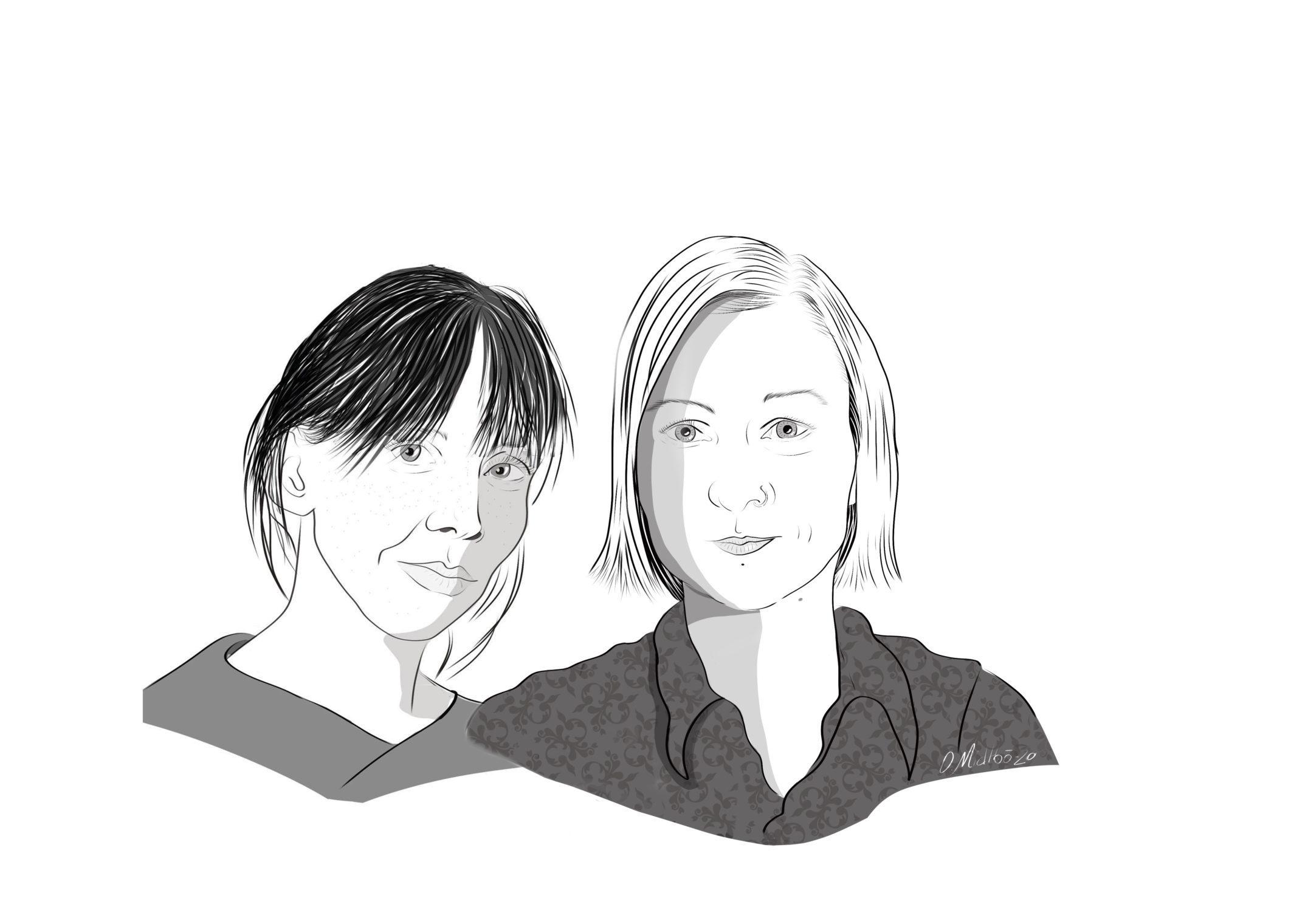 Norpublica-journalistene Kjersti Veel Krauss og Ida Løvdahl Ahlsen