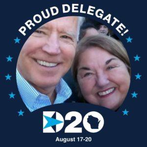 Carole Lieber og presidentkandidat Joe Biden.