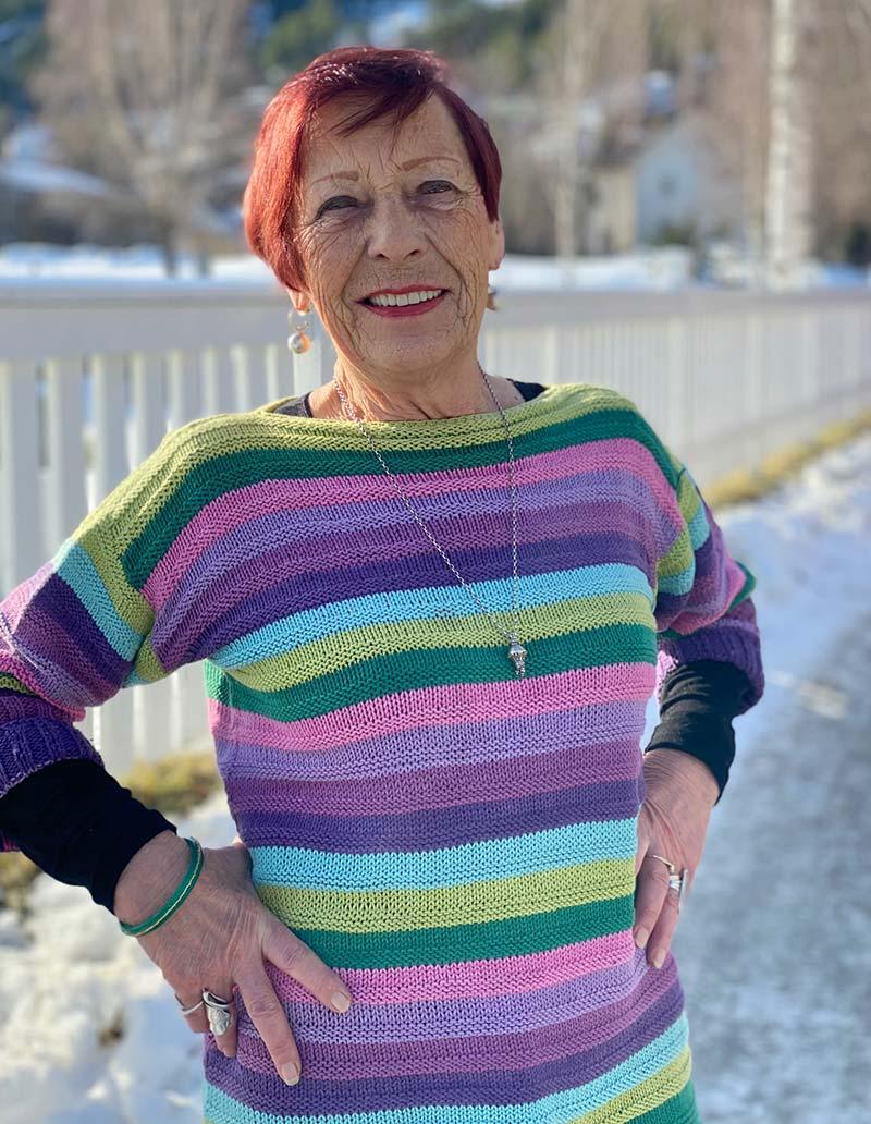 Brit Renanger (79) har donert kroppen sin til forskning. Foto: Gemini/Anne Lise Aakervik.